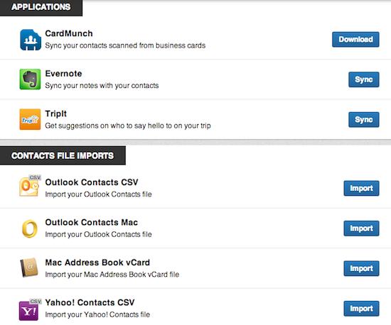 Contacts Applications