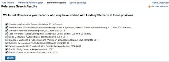 LinkedIn Reference Check Individual Profile