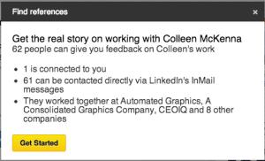 Reference Check LinkedIn
