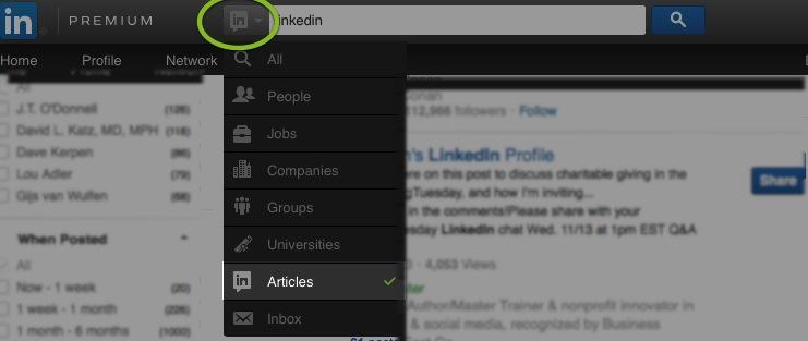 LinkedIn Search Bar
