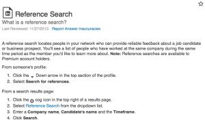 Reference Search LinkedIn