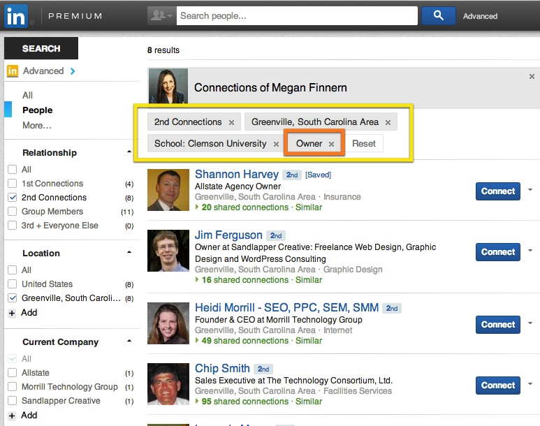 how to see my connections in linkedin app