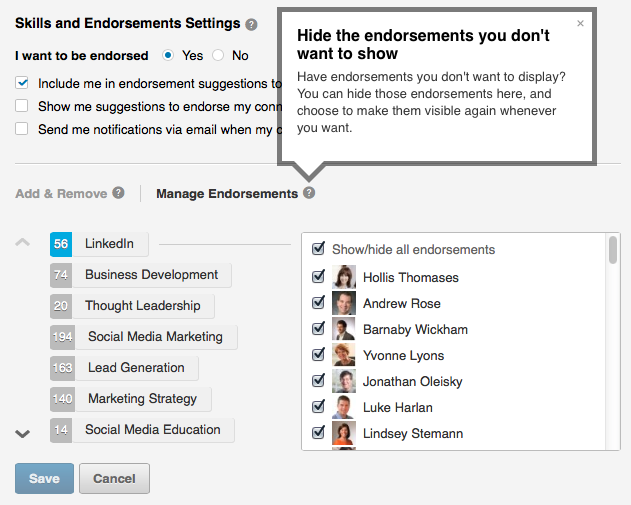 manage those endorsement