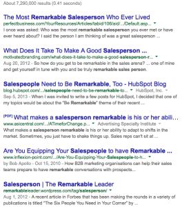 Google remarkable salesperson