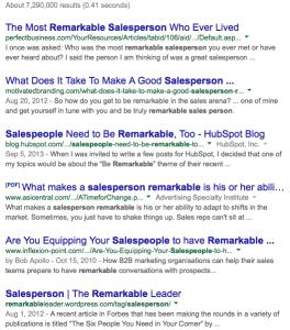 Google remarkable salesperson