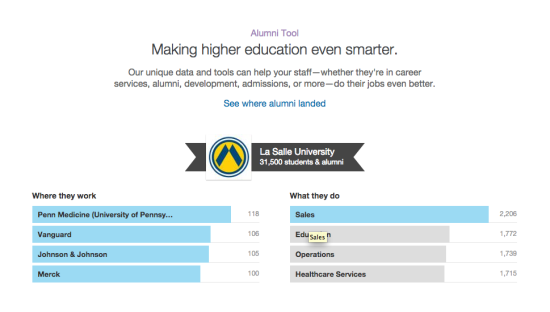 LinkedIn's Alumni Tool