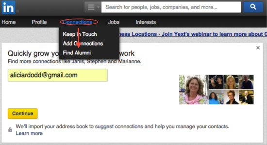 Find Alumni on LinkedIn