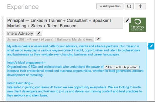 Edit your LinkedIn profile