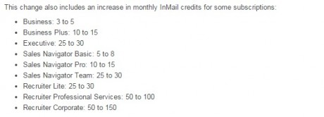 InMails LI subscriptions