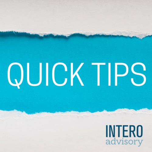 QUICK TIP (5)