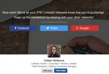 LinkedIn to Twitter