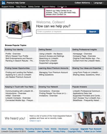 help center LinkedIn