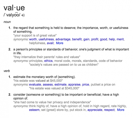 definition of value