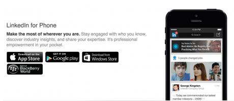 LinkedIn app for phone