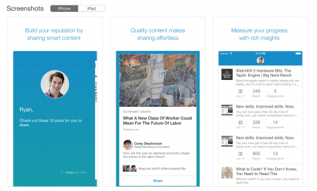 LinkedIn iphone elevate