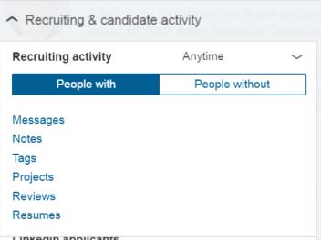 recruiter new activity