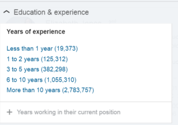 recruiter new yrs of exp