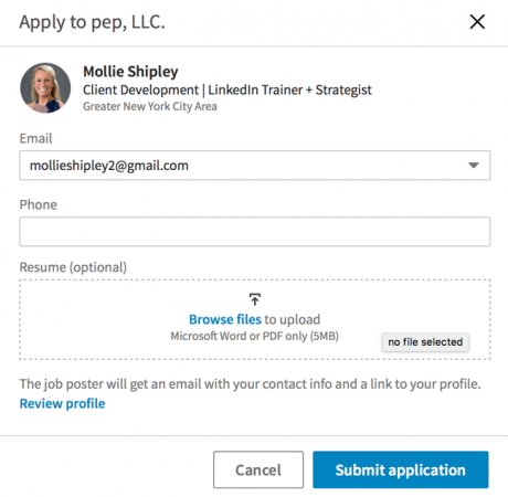 how to attach a resume to a linkedin job application intero advisory