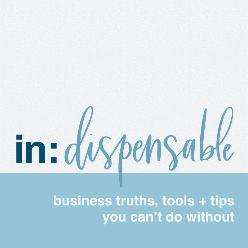 in:dispensible cover art - podcast for business tips