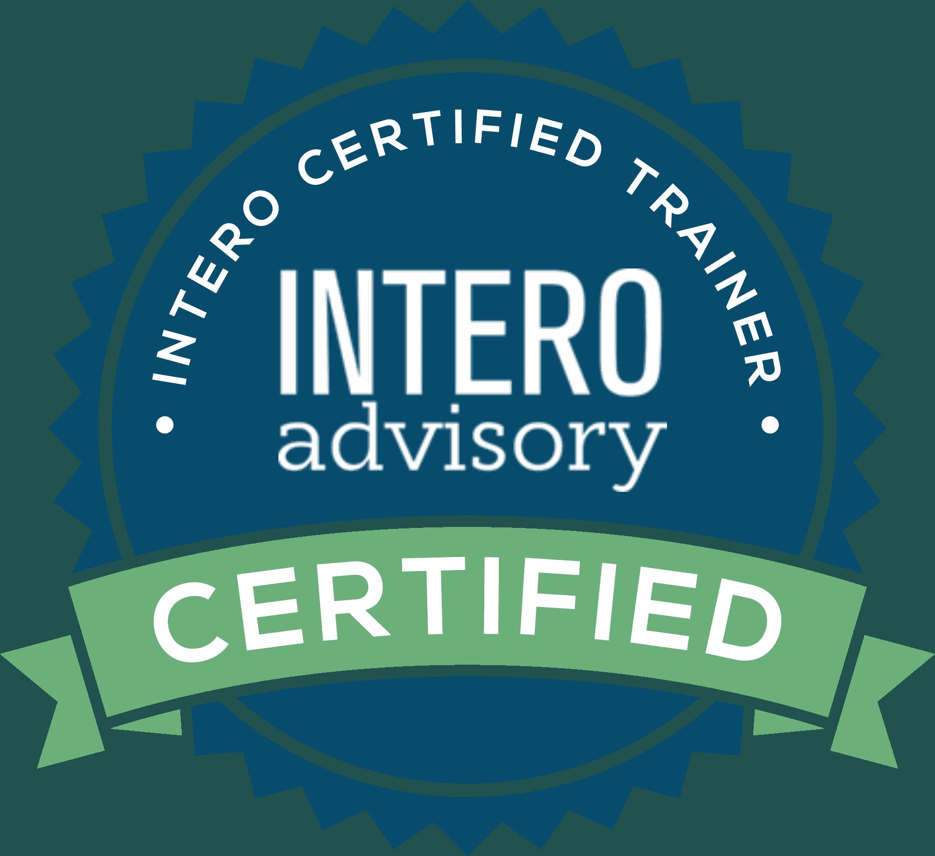 Intero Advisory Certified Training Badge