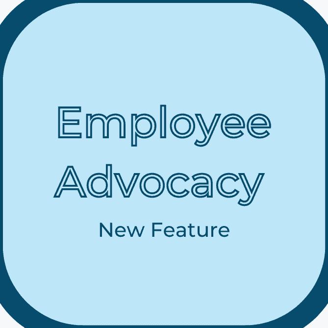 employee advocacy my company tab