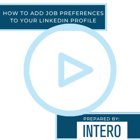 job preferences LinkedIn