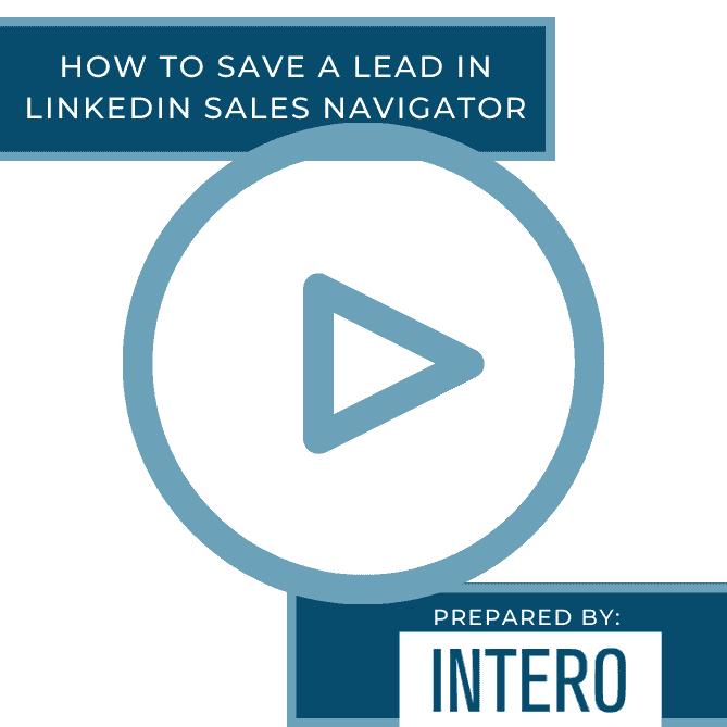 Save a Lead Sales Navigator